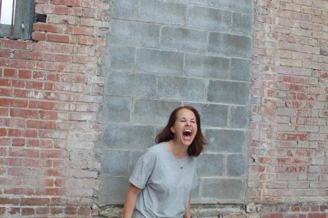 Dianne concrete:brick big laugh